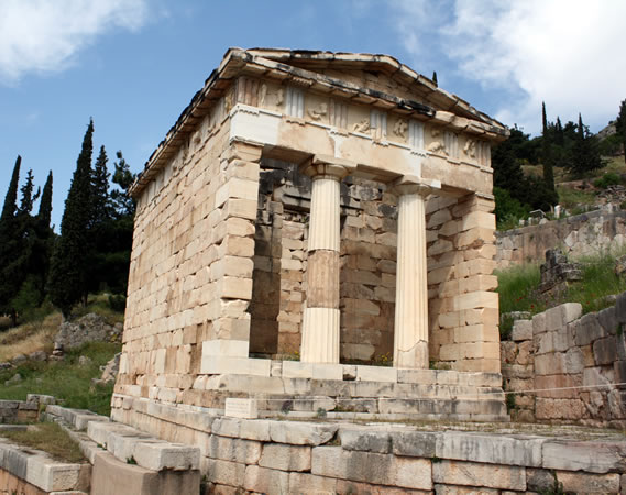 Treasury of the Athenians - Delphi